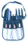 Garden bag with tools - set include: Shovel, Hoe, Trident, Wimble for plant.