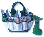 Garden bag with tools - set include: Small shovel - Big shovel - Hoe - Sprayer - Bill hook.