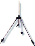 "Metallic by height adjustable tripod 1/2"" with adaptor."